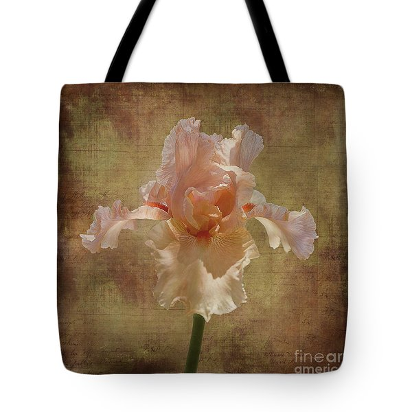 Tote Bag featuring the photograph Frilly Iris by Elaine Teague