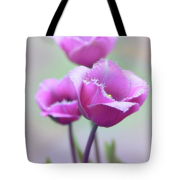 Tote Bag featuring the photograph Fringe Tulips by Jessica Jenney