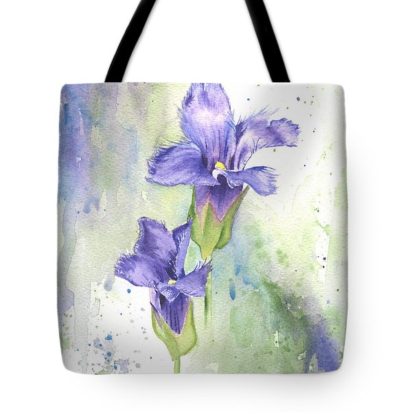 Fringed Gentian Tote Bag