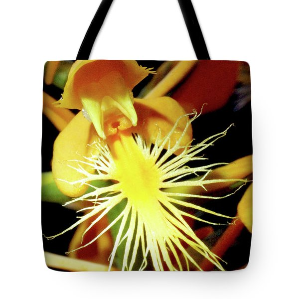 Fringed Yellow Orchid Tote Bag by Meta Gatschenberger