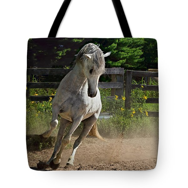 Tote Bag featuring the photograph Frisky Lady by Judy  Johnson