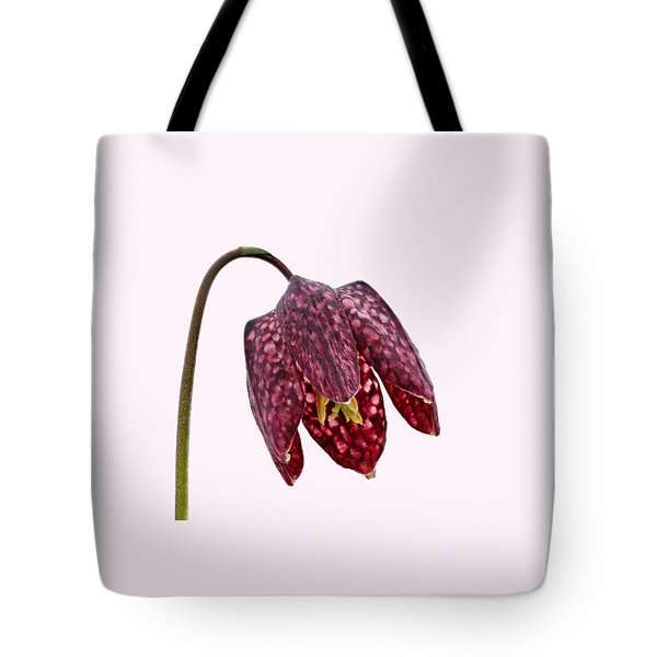 Tote Bag featuring the photograph Fritillaria Meleagris Transparent Background by Paul Gulliver