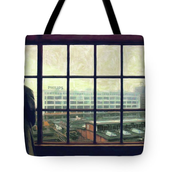 Frits Is Overlooking His Philips Plants In Eindhoven Tote Bag by Nop Briex