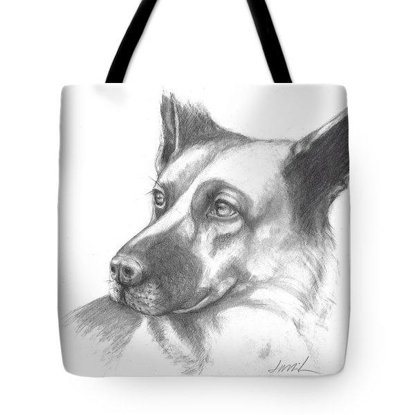 Fritz The German Shepherd Tote Bag
