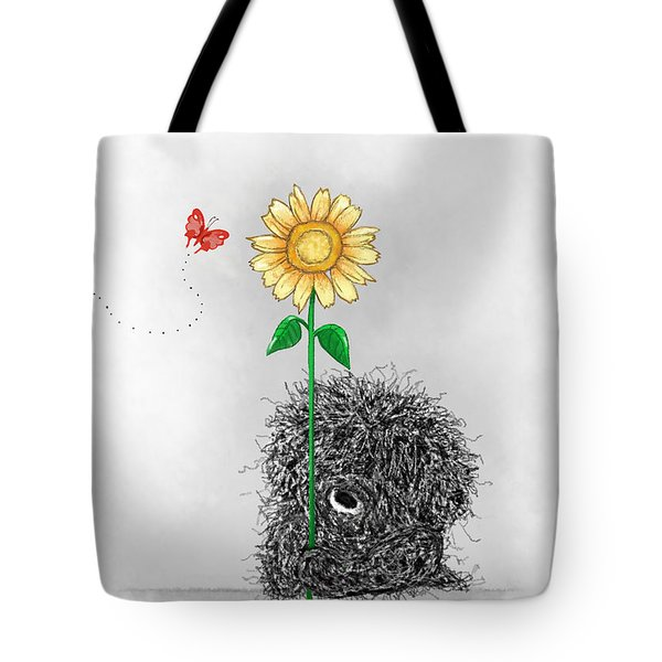 Frizzy Freddy- A Sunflower Just For You Tote Bag