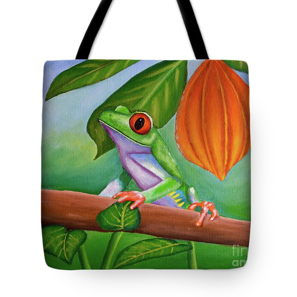 Frog And Cocoa Pod Tote Bag