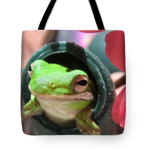 Frog At Selby Tote Bag by Michele Penn