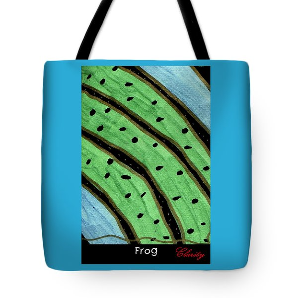 Tote Bag featuring the painting Frog by Clarity Artists
