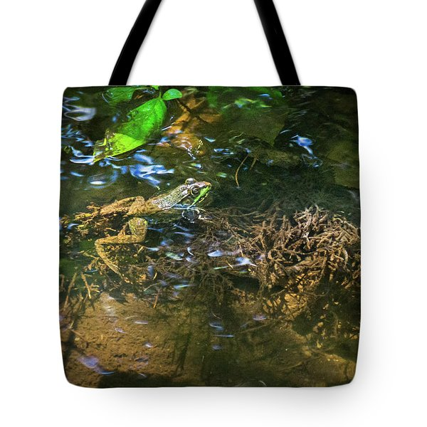 Tote Bag featuring the photograph Frog Days Of Summer by Bill Pevlor