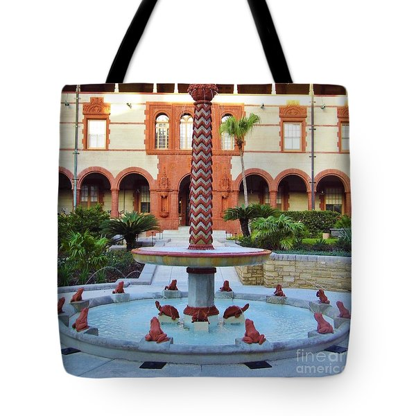 Frog Fountain Tote Bag