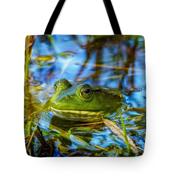 Frog In My Pond Tote Bag