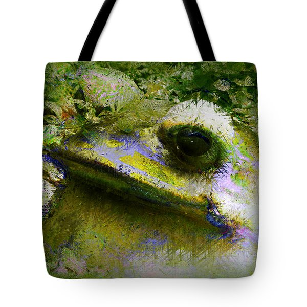 Frog In The Pond Tote Bag by Lori Seaman