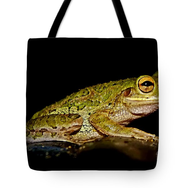 Tote Bag featuring the photograph Cuban Tree Frog by Olga Hamilton