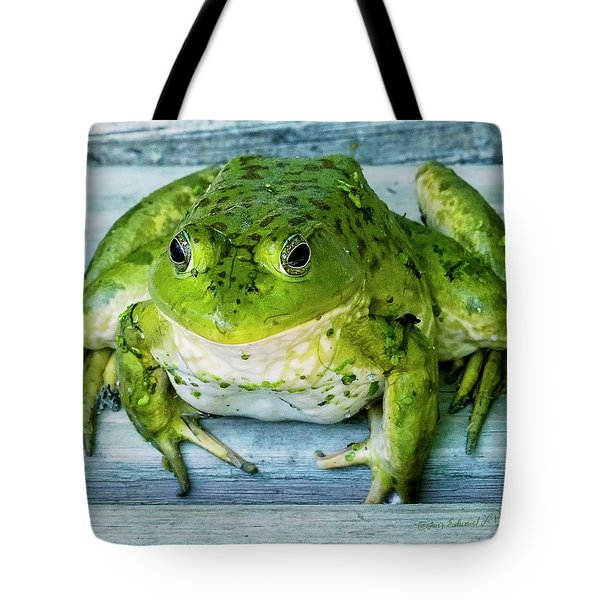 Frog Portrait Tote Bag by Edward Peterson