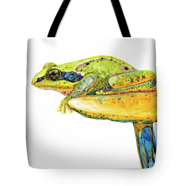 Frog Sitting On A Toad-stool Tote Bag