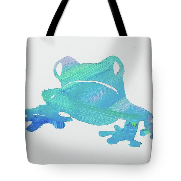 Tote Bag featuring the painting Froggie Friend by Candace Shrope