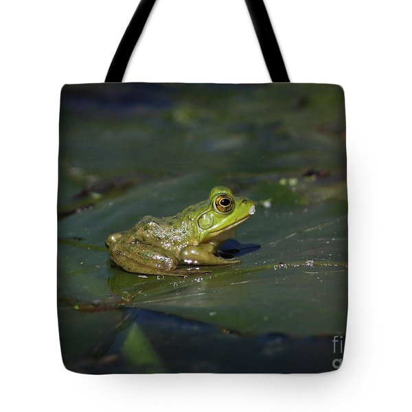 Tote Bag featuring the photograph Froggy 2 by Douglas Stucky