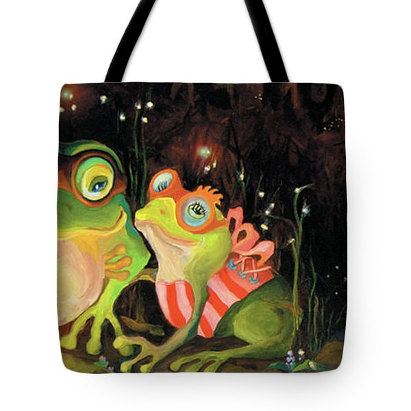 Frogs At Silver Lake Tote Bag