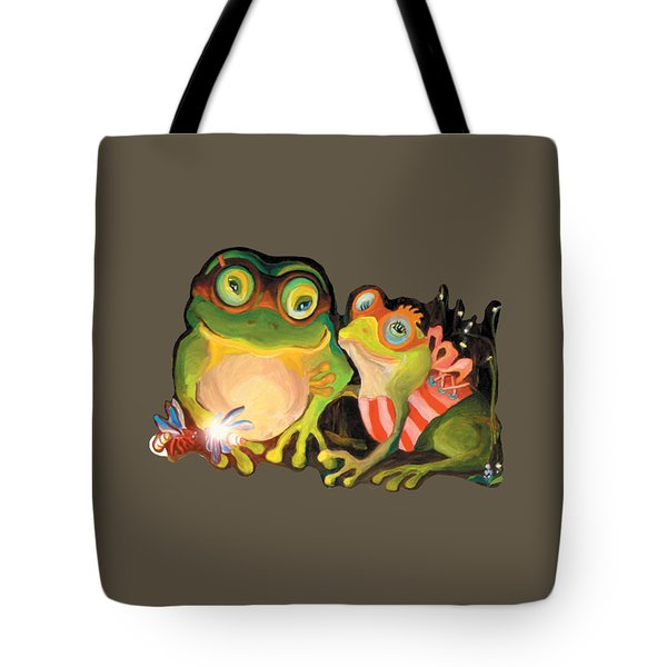Frogs Transparent Background Tote Bag