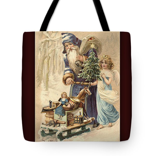 Frohe Weihnachten Vintage Greeting Tote Bag by Melissa Messick