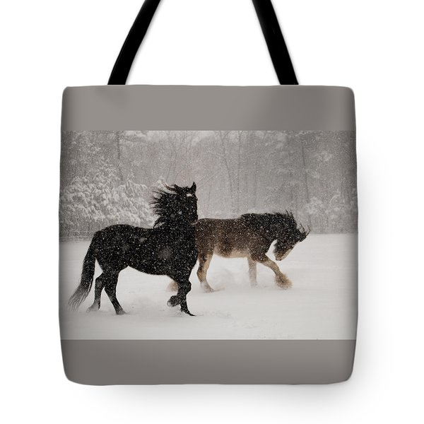 Frolic In The Snow Tote Bag