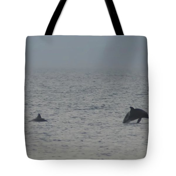 Frolicking Dolphins Tote Bag by Bill Cannon