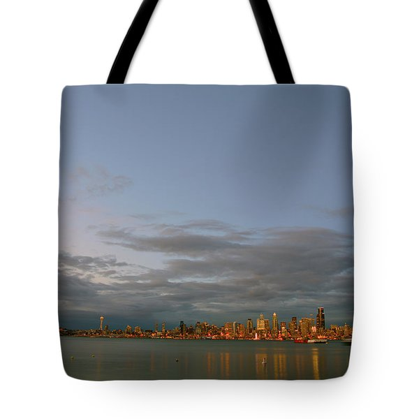 From Alki - Cloudy Night Tote Bag