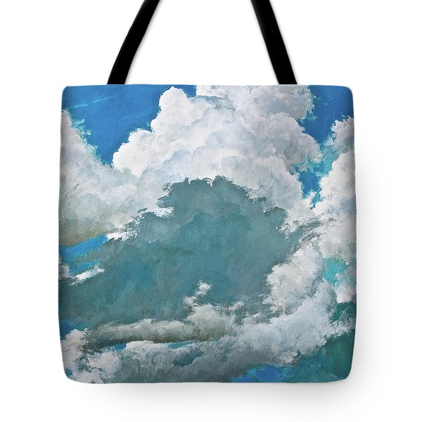 Tote Bag featuring the painting From Both Sides Now by Cliff Spohn