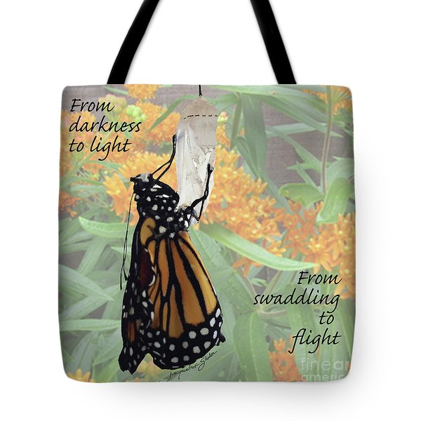 From Darkness To Light Tote Bag