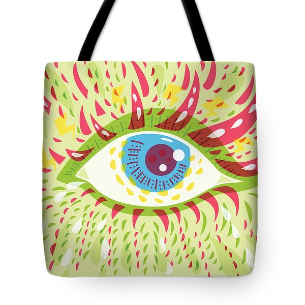 From Looking Psychedelic Eye Tote Bag