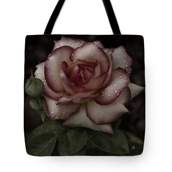 From Me To You Winter Rose Tote Bag by Barbara Middleton