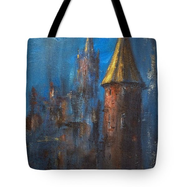 Tote Bag featuring the painting From Medieval Times by Arturas Slapsys