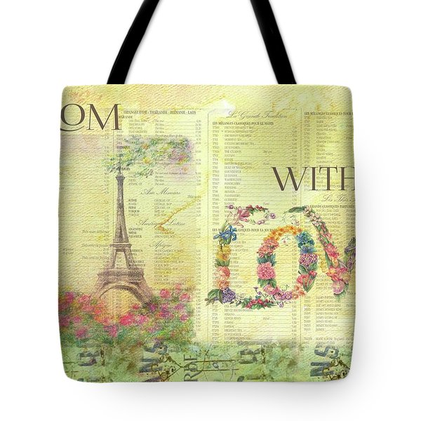 From Paris With Love Eiffel Tower Tote Bag