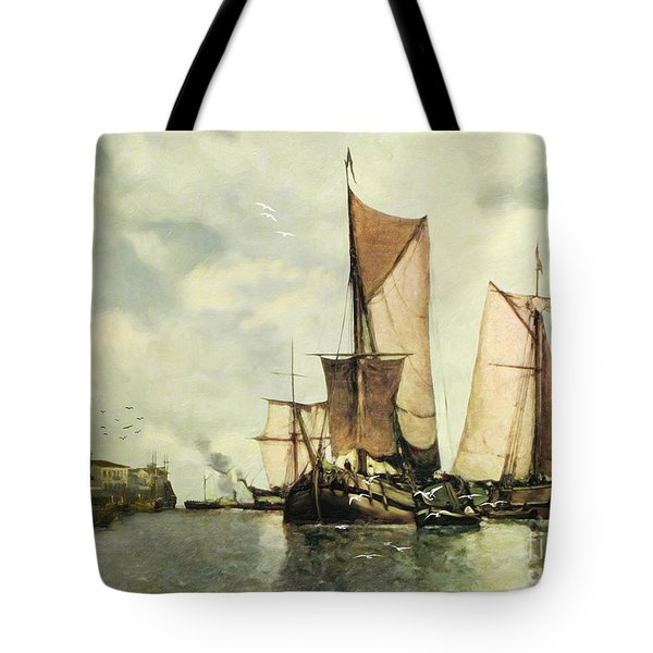 From Sail To Steam - Transitions Tote Bag