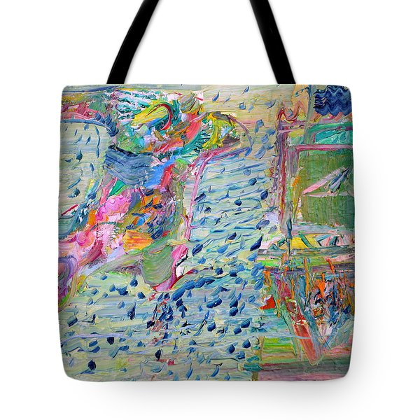 Tote Bag featuring the painting From The Altered City by Fabrizio Cassetta