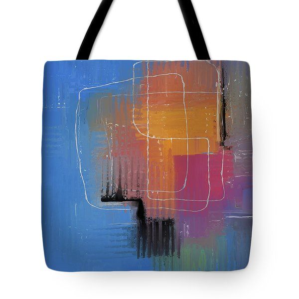Tote Bag featuring the mixed media From The Beginning by Eduardo Tavares