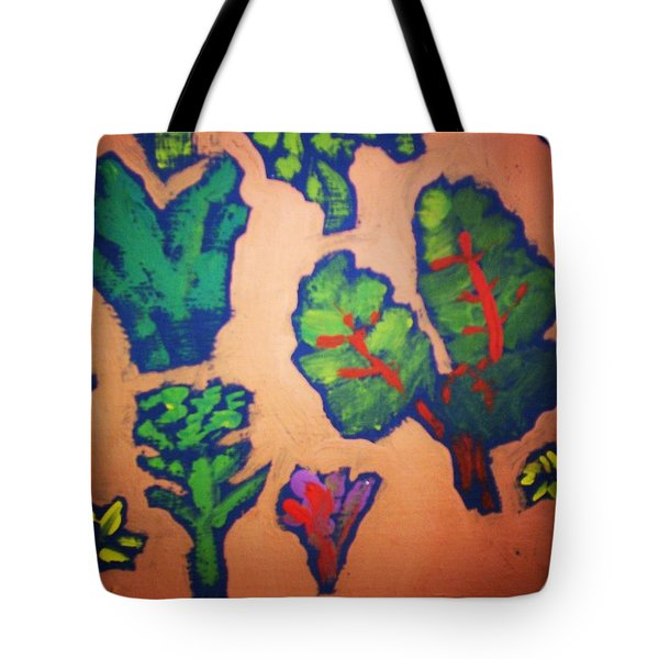 Tote Bag featuring the painting From The Earth 2 by Winsome Gunning