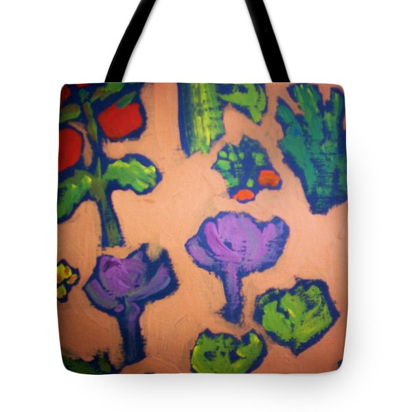 Tote Bag featuring the painting From The Earth by Winsome Gunning