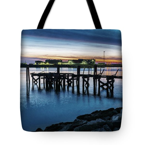 From The Fort Monroe Seawall Tote Bag