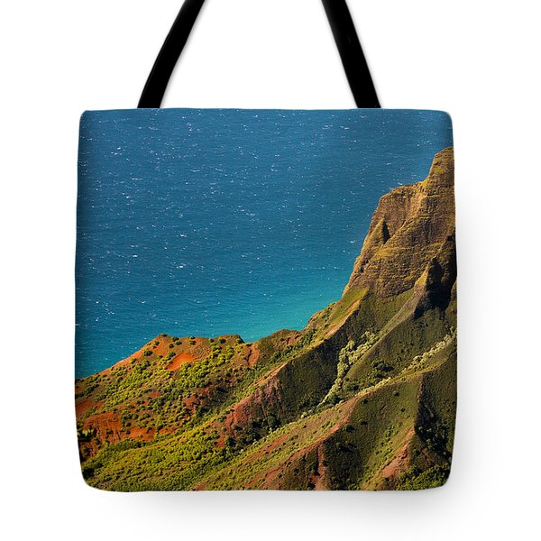 Tote Bag featuring the photograph From The Hills Of Kauai by Debbie Karnes