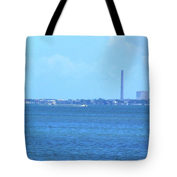 Tote Bag featuring the photograph From The Honey Moon Island Visitor Center 003 by Chris Mercer