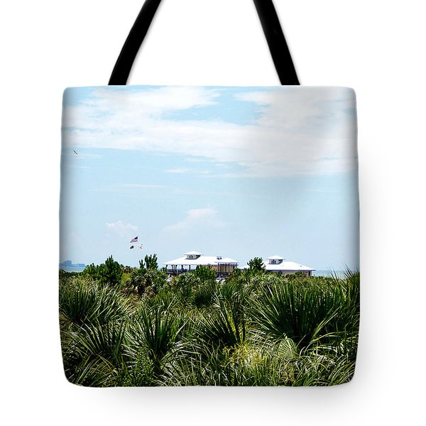 Tote Bag featuring the photograph From The Honey Moon Island Visitor Center  by Chris Mercer