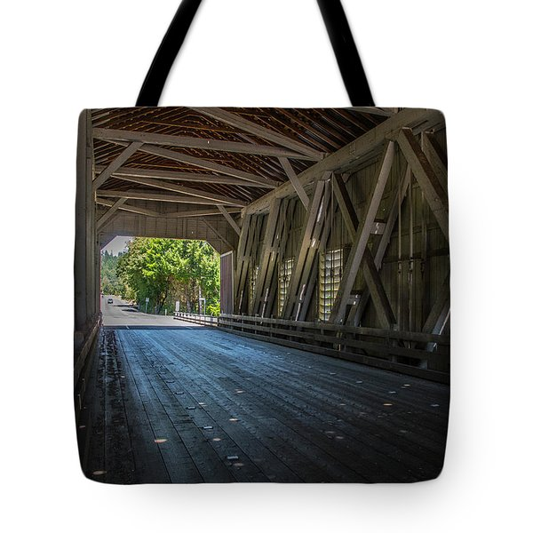 From The Inside Looking Out - Shimanek Bridge Tote Bag