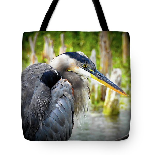 From The Series Great Blue Number 2 Tote Bag