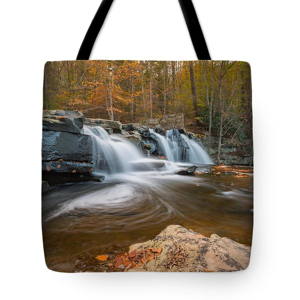 From The Top Brush Creek Falls Tote Bag by Rick Dunnuck