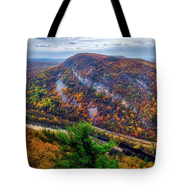 Tote Bag featuring the photograph From The Top Of Mount Tammany by Mark Papke