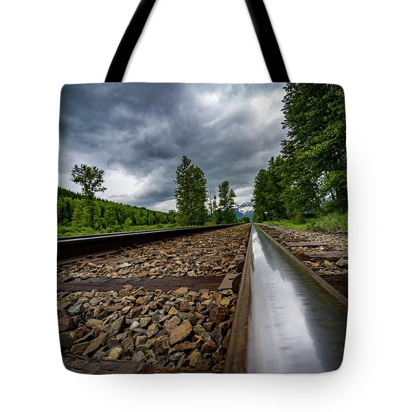 Tote Bag featuring the photograph From The Track by Darcy Michaelchuk