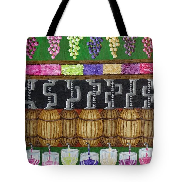 Tote Bag featuring the painting From Vine To Wine by Katherine Young-Beck