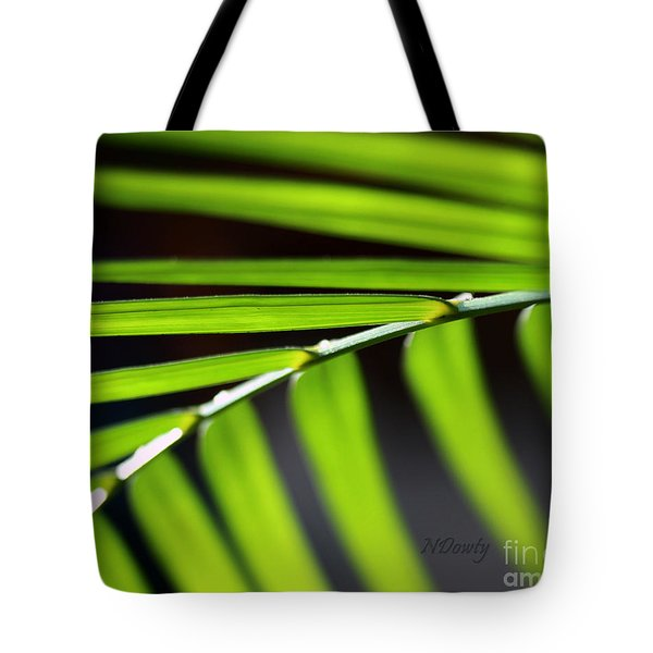 Frond Geometry Tote Bag