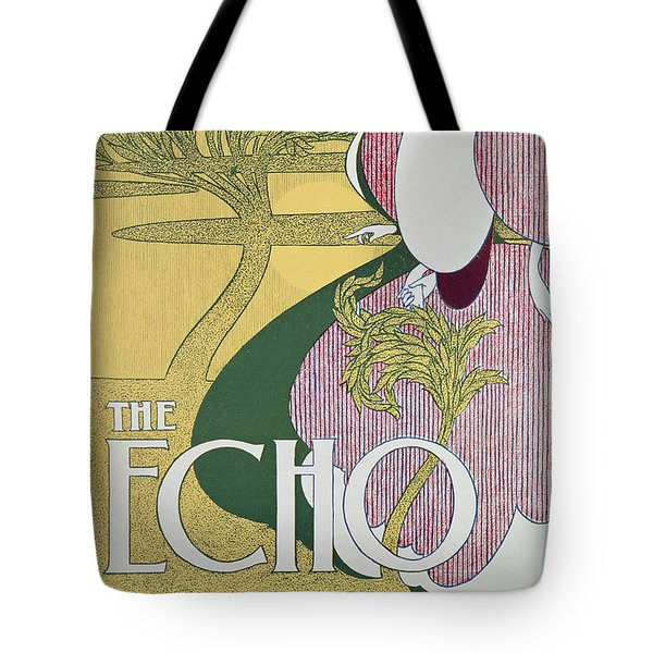 Front Cover Of The Echo Tote Bag by William Bradley